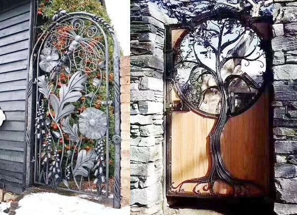 铁制艺术门