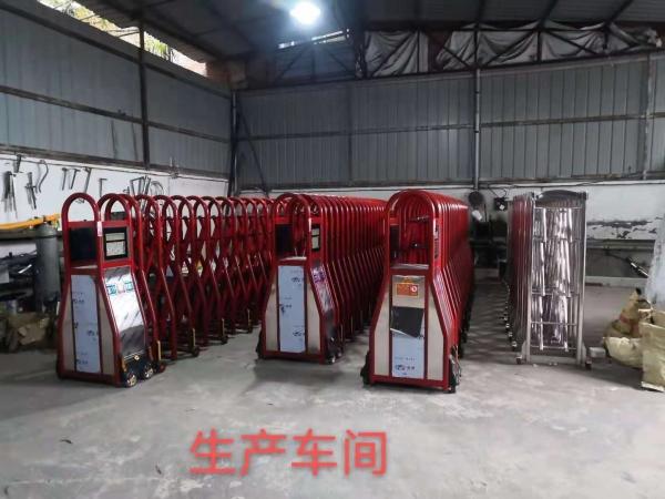 四川电动伸缩门厂家:我司生产车间