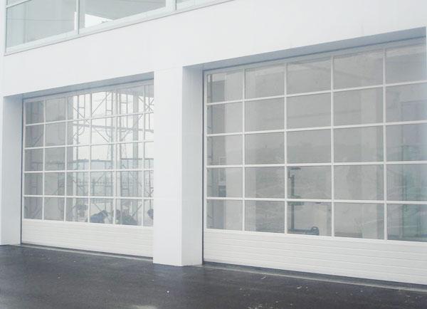 钢化玻璃车库门