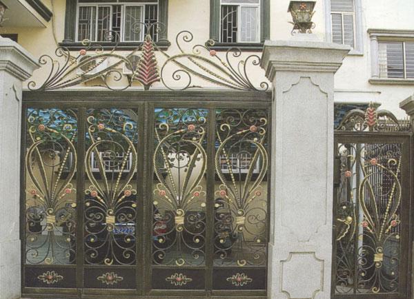 防盗铸铁庭院大门