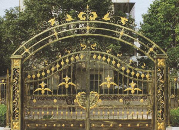 厂区铸花庭院大门