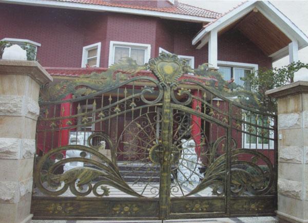 别墅庭院铝艺门