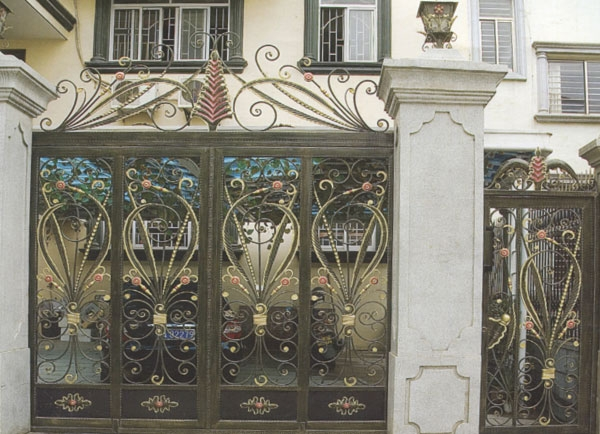自贡防盗铸铁庭院大门
