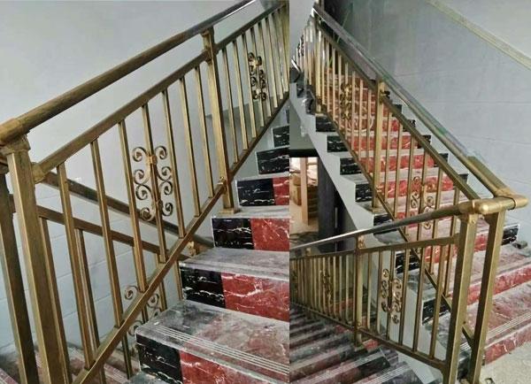 楼梯烤漆铁艺栏杆