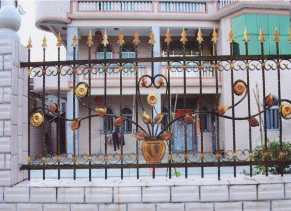 庭院防护铁艺栅栏